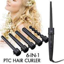 6 in 1 Professional Ceramic Hair Curler Rotating Curling Iro