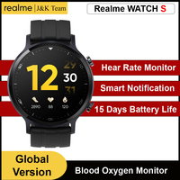Reloj inteligente Realme S, reloj inteligente hombre Smartwatch con Bluetooth 5,0, 15 días de batería, rastreador de Fitness, resistente al agua IP68, control del ritmo cardíaco en tiempo real