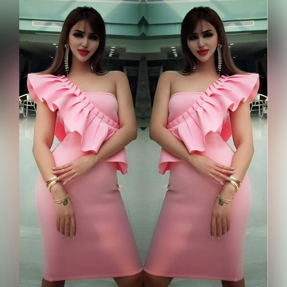 Up To 90%Off Big Sale!!!Ocstrade 10th Anniversay Shopping Festival!2020 Summer High Quality Women Sexy Pink Bandage Dress
