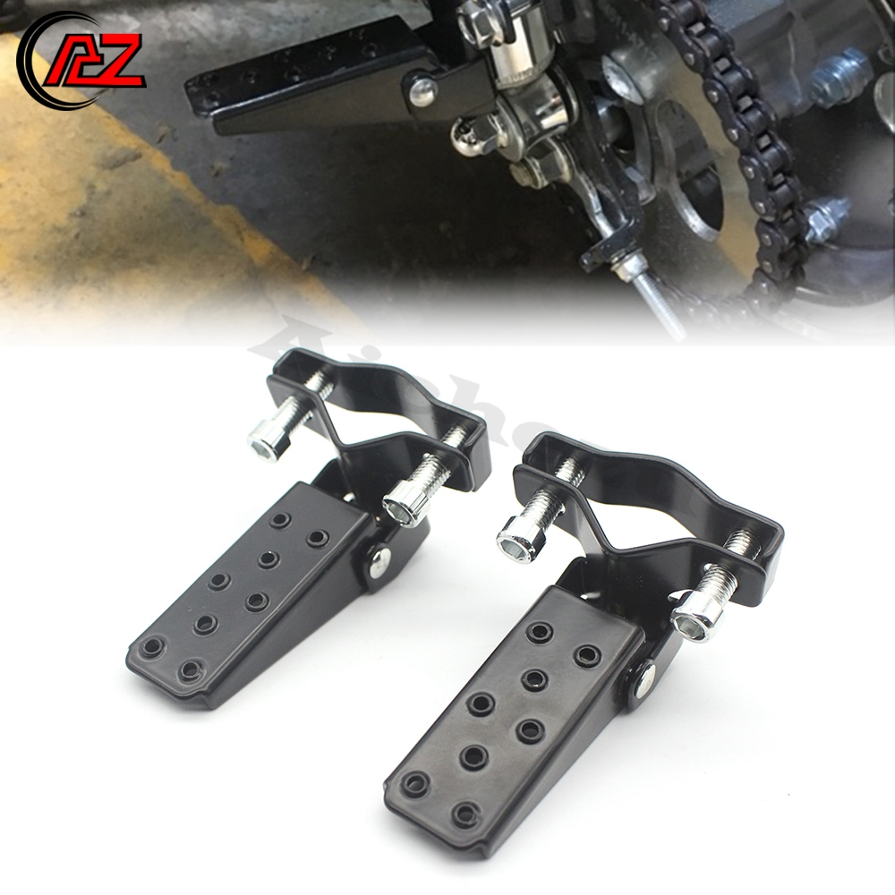 ACZ Motorcycle A Pair Black 25-28mm Rear Passenger Foot Peg Pedal Footrest FootPegs Universal For Yamaha Honda Suzuki Kawasaki