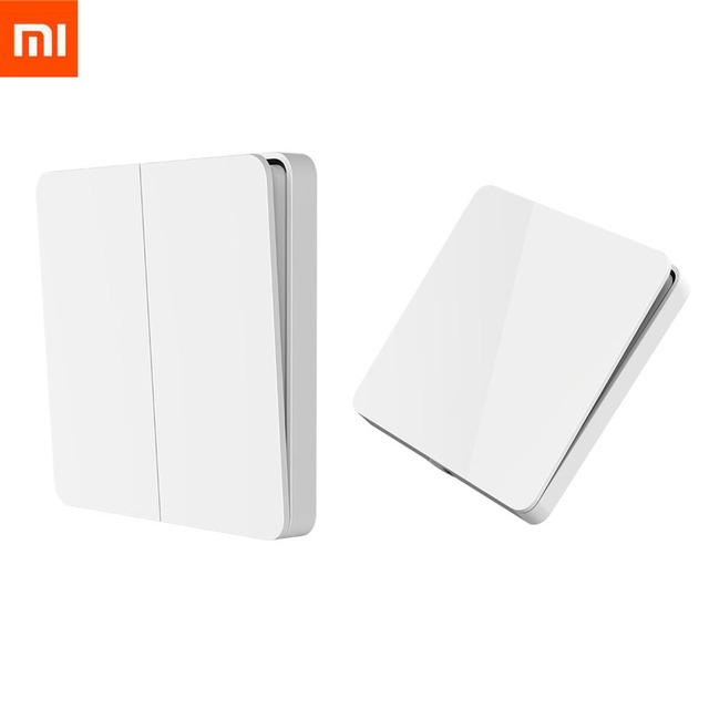 Xiaomi mijia básico interruptor de parede único/duplo/três aberto interruptor de controle duplo 2 modos interruptor para luzes da lâmpada interruptor