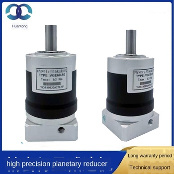 High Precision Planetary Reducer Spot Gear Reduction Box VGE60-50 50 Ratio Servo Reducer Supply 1 25m 30t reduction ratio 1 30 copper worm gear reducer transmission parts gear hole 10mm rod hole 10mm