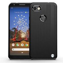 Capa de telefone para google pixel3a xl capa protetora para pixel 3a 3axl pixel3axl armadura escovado listra silicone anti queda macio escudo