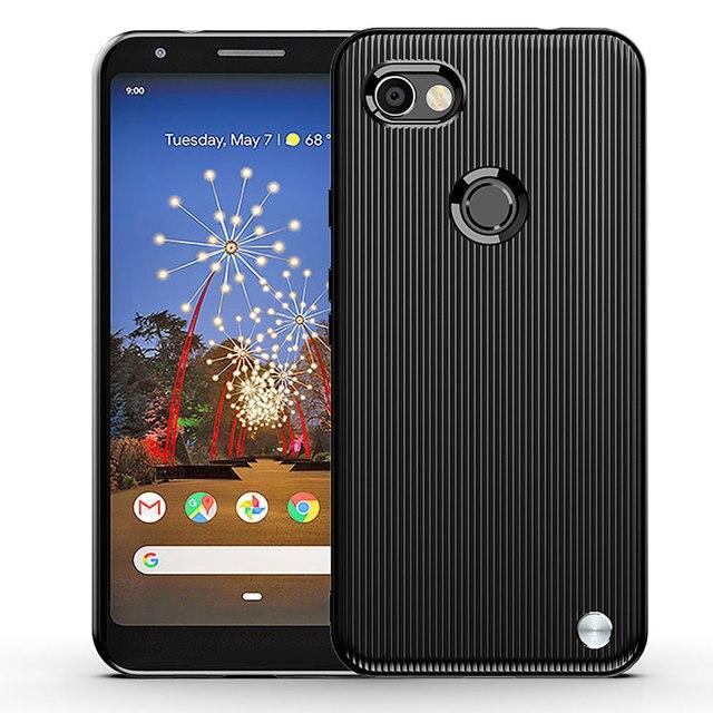 Cassa del telefono Per Google Pixel3a XL Coperchio di Protezione per Pixel 3a 3aXL Pixel3aXL Armatura Spazzolato Della Banda Del Silicone Anti caduta morbido Borsette