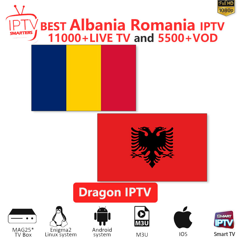 IPTV Subscription Albania IPTV M3U IPTV 10000+Live Channels For M3u Mag Box Smart Tv Romania Iptv M3U Code Sports
