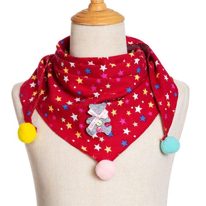 Весенние клетчатые треугольные шарфы в горошек для маленьких девочек; осенне-зимняя шаль для мальчиков и девочек; Детские хлопковые воротники; теплый детский шейный платок - Цвет: A1