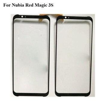 Перейти на Алиэкспресс и купить Для Nubia Red Magic 3 S Magic3S переднее внешнее стекло для ремонта объектива с сенсорным экраном внешнее стекло без гибкого кабеля RedMagic 3 S