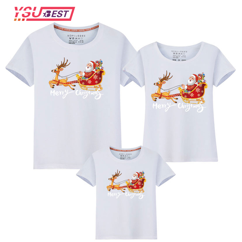 2020 Christmas Dad Mom Baby T-Shirt Clothing Funny Family Matching Outfits Clothes Mother Daughter Father Son Mommy and Me Shirt