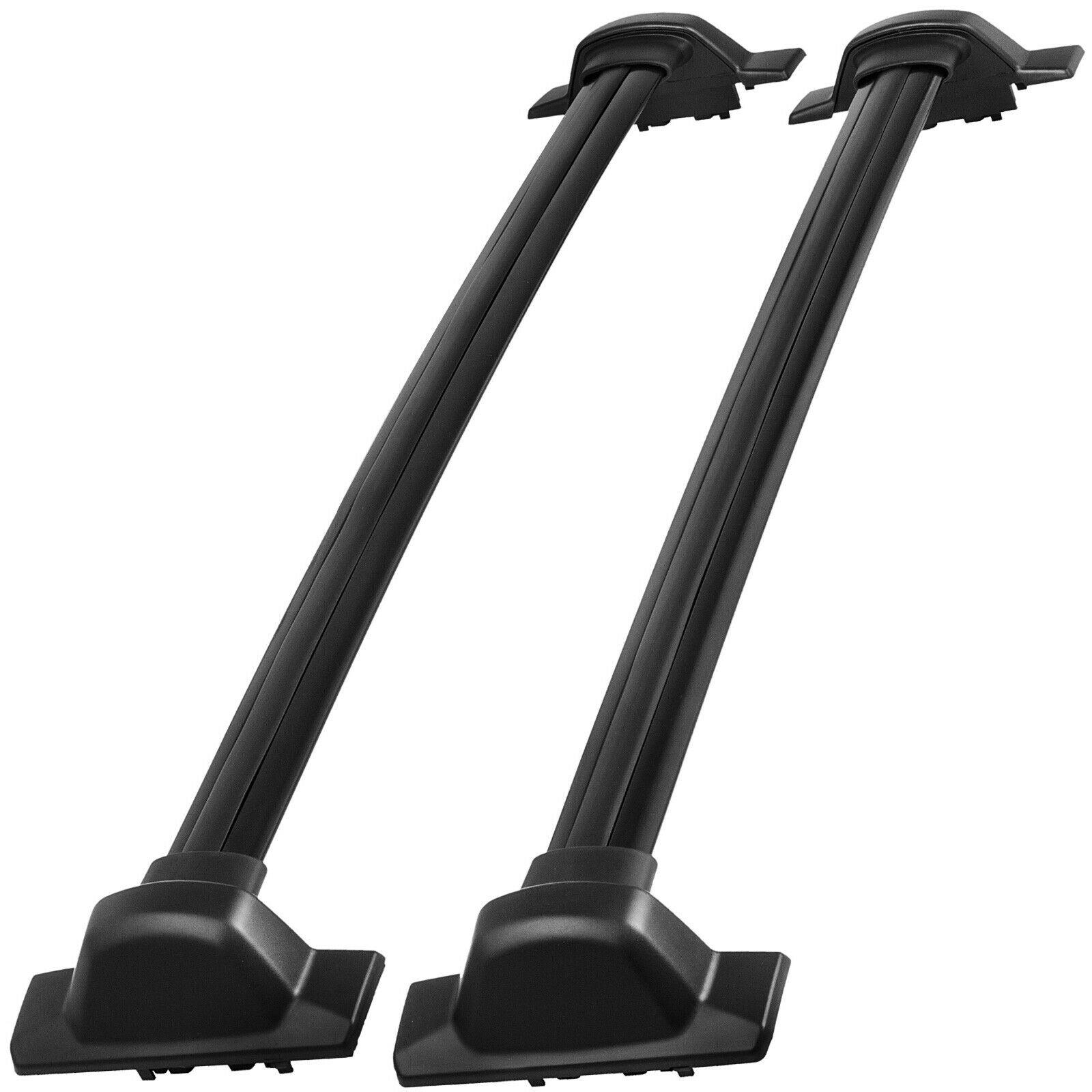 2 Pcs Roof Rack Cross Bar Fits Honda CRV CR-V 2007-2012 Black Aluminum OE Style