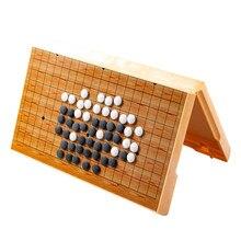 Jeu de Go à pierres plastiques pour enfants,nouveauté, plateau pliant magnétique, ancien jeu de société chinois, échecs, weiqi, gobang, cadeau idéal,