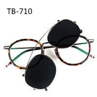 Clip on Sunglasses New York Brand 2017 Thom Round Glass Frames  TB710 Men and Women Eyewear Optiacl Glasses with Box