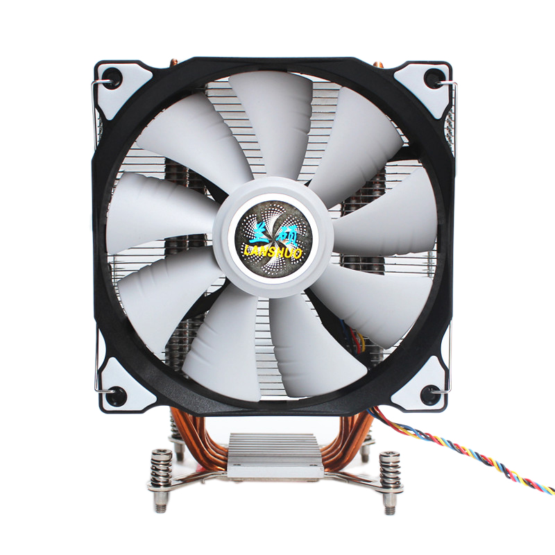 LANSHUO CPU Silent Single Fan 4 Heat Pipe 4 Wire Intelligent Temperature Control CPU Cooler Fan for Intel LGa 2011 Self-Containe