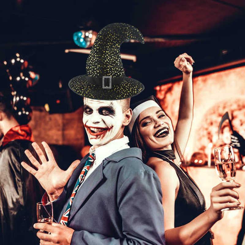 Хэллоуин взрослых ведьма шляпа голова для карнавального костюма-одежда маскарадная шапка ведьмы Декорации для косплея вечерние шляпы верхние шляпы реквизит нарядное платье Декор