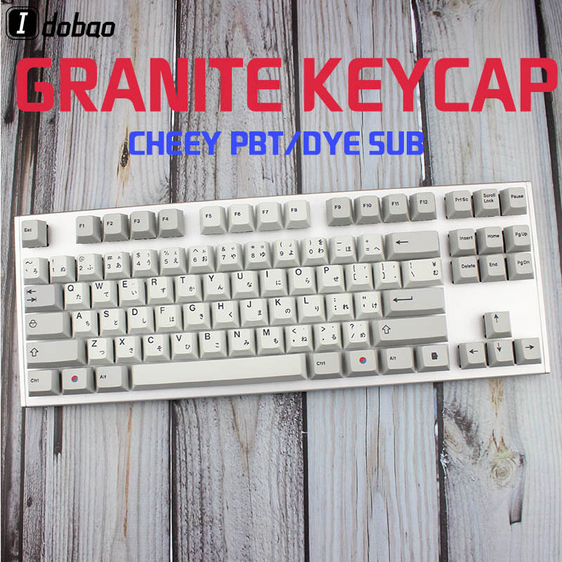 Mini Keyboard Dye Sub Keycaps Granite Color For Mechanical Key Cherry Japanese Root Black Font Pbt Keycap Teclado