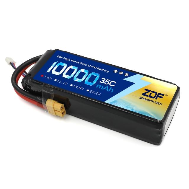 ZDF bateria Lipo 2S, 3S, wtyczka do samolotu RC, samochodu Traxxas, ciężarówki RC, 7,4 V/11,1 V 10000 mAh, 35C Max 70C XT90 /XT60/T