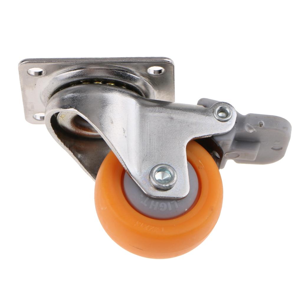 O rodízio resistente do giro de 1.25 polegadas roda a placa superior de 720 graus com capacidade do freio 17kg-0