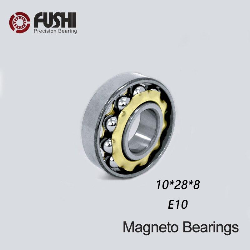 E10 Magneto Bearing 10*28*8 mm ( 1 PC ) Angular Contact Separate Permanent Motor Ball Bearings EN10