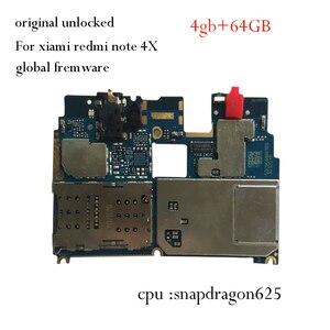 Оригинальная материнская плата для Xiaomi Redmi Note 4X note 4 глобальная версия 4 + 64 ГБ Snapdragon 625 материнская плата frimwmiui Note4X