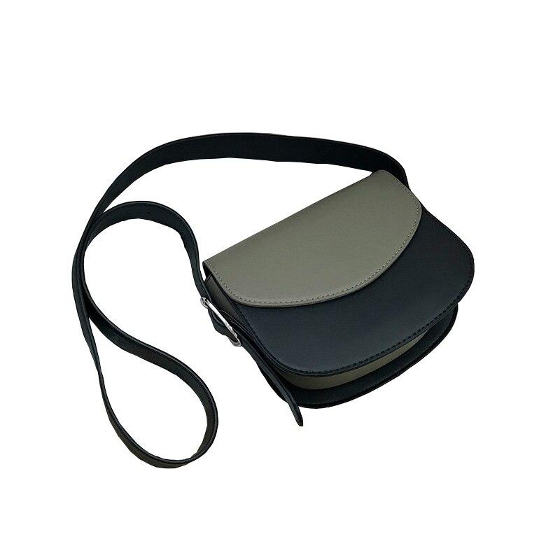 Bandoulière sacs pour femmes 2019 simple sac à bandoulière en cuir synthétique polyuréthane petit rabat mobile sac rétro solide couverture souple