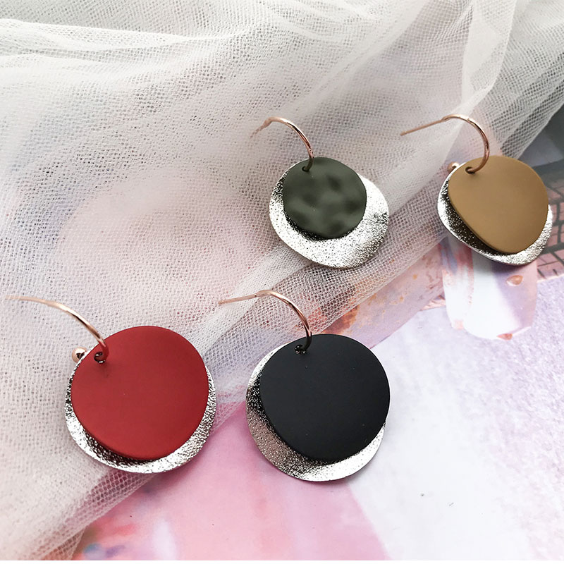 Unique Elegant Round Metal Earrings for Women 2020 New Geometric Alloy Statement Earrings Fashion Jewelry Gift