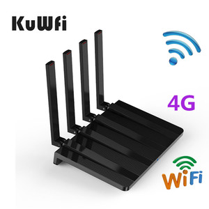 KuWfi 4G LTE Wifi Router Unlocked Cat4 150Mbps 3G/4G Sim Router Support FDD/TDD With 4Pcs Antenna&RJ45 Lan Ports