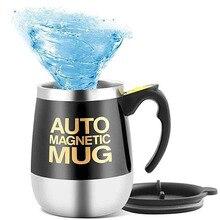 Mugs Agitator Drinkware Coffee-Cup Water-Bottle Beer Self-Stirring Stainless-Steel Electric