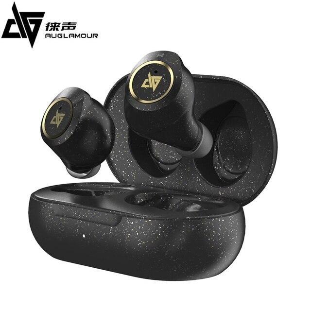 2020 najnowszy AUGLAMOUR AT 200 TWS Bluetooth słuchawki 5.0 IPX5 wodoodporne słuchawki bezprzewodowe słuchawki douszne HIFI Bass dla inteligentnego telefonu