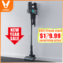 Viomi a9 cordless handheld aspirador de pó 400w 23000pa casa ciclone filtro chão tapete coletor poeira com luz led nenhuma tarifa