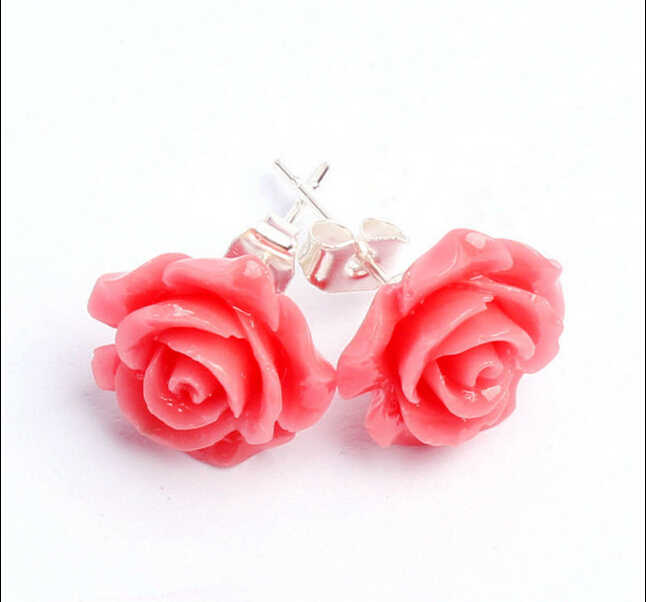 送料無料ペア女性ガールレディかわいい素敵なピンク耳のスタッドギフト