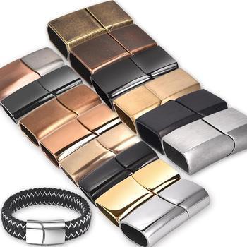 2 sztuk ze stali nierdzewnej zapięcia magnetyczne Charms złącze klamra dla Diy skórzane bransoletki liny komponenty do wyrobu biżuterii akcesoria tanie i dobre opinie I haczyki klamry 1 35cm Magnetic Clasps 0 6cm 2 6cm Ocena biżuteria Metal STAINLESS STEEL 1 1cm stainless steel jewelry making