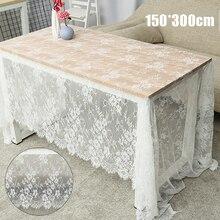 Mantel bordado encaje blanco Vintage cocina té cubierta de la mesa de café paño para fiesta boda Hotel Decoración
