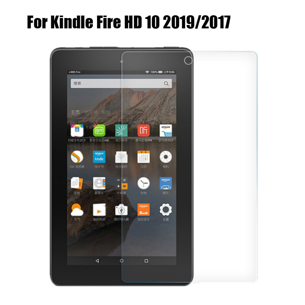 Ultra Slim 9H Tempered Glass Screen Protector For Kindle Fire HD 10 2019/2017 10 Inch Ultra-thin HD Protective Film