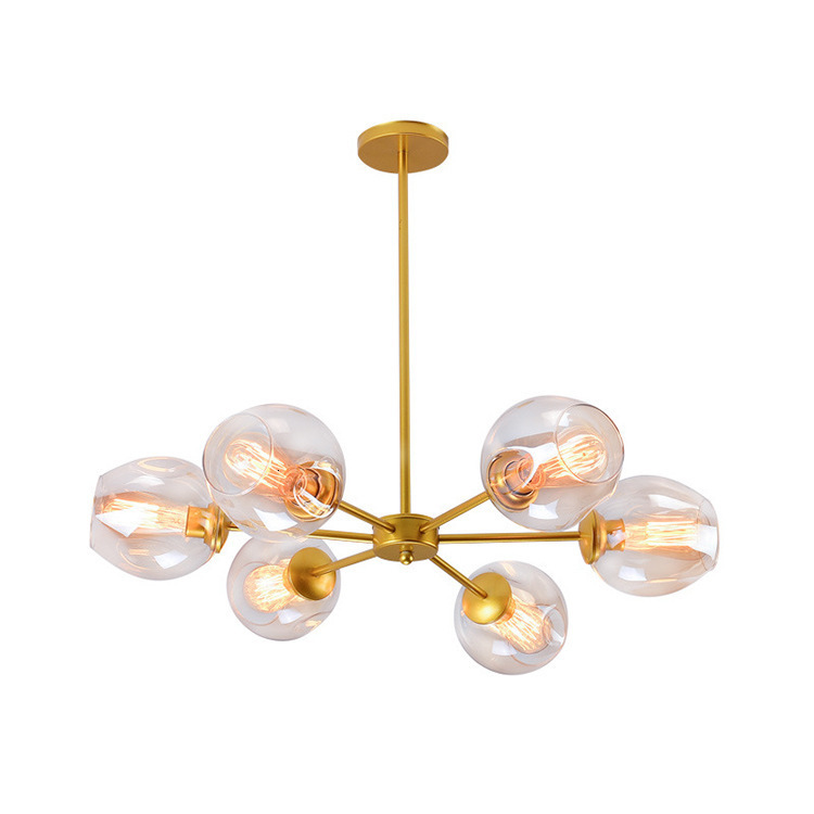 Loft Modern Pendant Light Silver Gold Glass Ball Hanging Lamp Hanglamp Kitchen Light Fixture Dining Living Room Luminaire|Pendant Lights| |  - title=