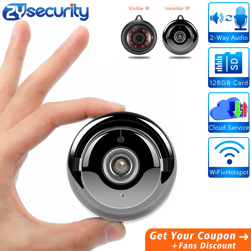 Full HD 1080p Home Security WiFi Mini Camera,SD Card Two Way Audio-Wireless IP Indoor Surveillance System-Invisible Night Vision