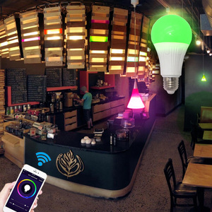 Image 4 - WiFi החכם Led אור הנורה E26/E27 מנורת A19 7W חם 3000K קר לבן 6000K RGB שלט רחוק Tuya Alexa גוגל עוזר הבית