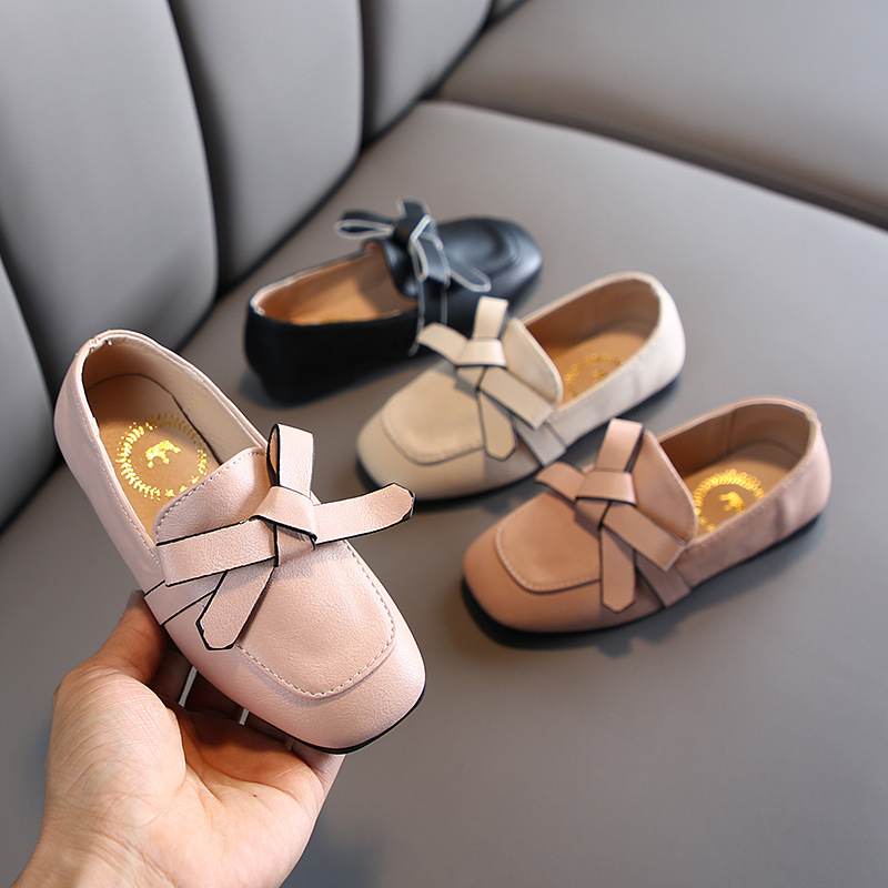 Little Girls Dress Shoes For Kids Leather 2020 New Arrival Slip On Shoes Girls Princess Children Loafers Kids Party Shoes C12291