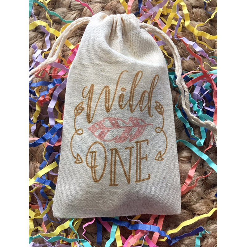 Personalised Wild One Bag First Birthday Gift Bag Candy Bags Bachelorette Favor Bag Bridal Party Survival Kit Bags Thank You Bag