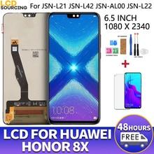 """6.5 """"עבור Huawei Honor 8X LCD מסך מגע Digitizer עצרת + מסגרת לכבוד 8 X תצוגת להחליף JSN L21 l42"""