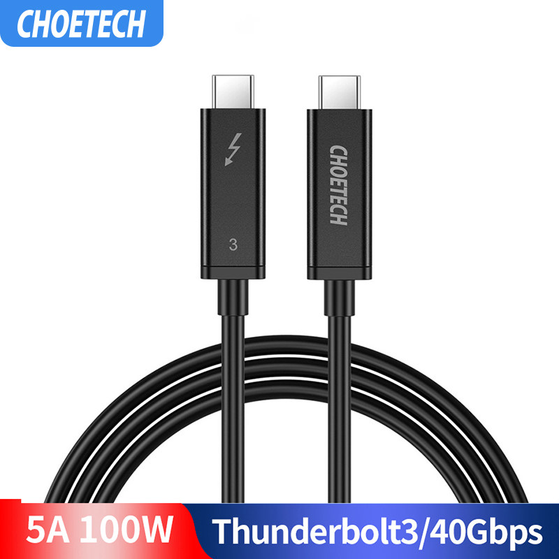 Thunderbolt 3 Cable 2M/6.5f 40Gbps 100W 5A/20V Support 5K UHD or 4K 60HZ Display USB Type C HDMI Cable for 2016-2018 Macbook Pro