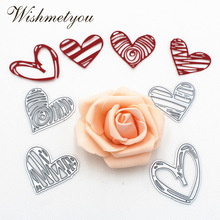 WISHMETYOU 4 Styles Love Heart Paper Art Embossing Metal Cutting Dies Letter Decoration Knife Mold Scrapbook Crafts DIY