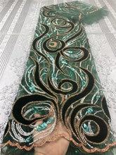 Красивый бархат с вышивкой из тюля с блестками, африканская кружевная ткань, подходит для женских модных юбок