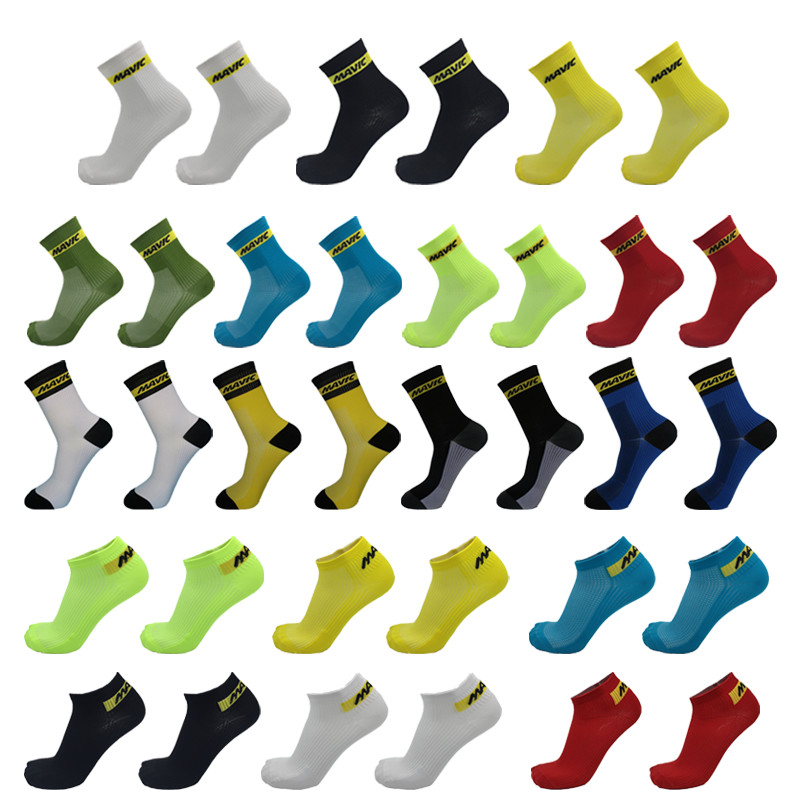 Brand Professional Racing Cycling Socks Mavic Men Women Compression Mtb Bike Running Socks Summer Short Calcetines Ciclismo