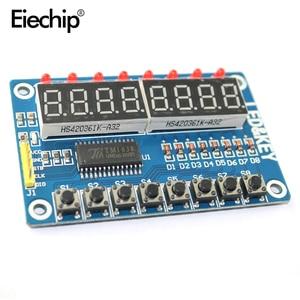 Image 2 - TM1638 LED Display Module 16 Keys 7 Segment 8Bit Digital Display Button Driver Board  LED Digital Tube For Arduino DIY