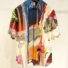 Andonaimi art ceramic print short-sleeved shirt