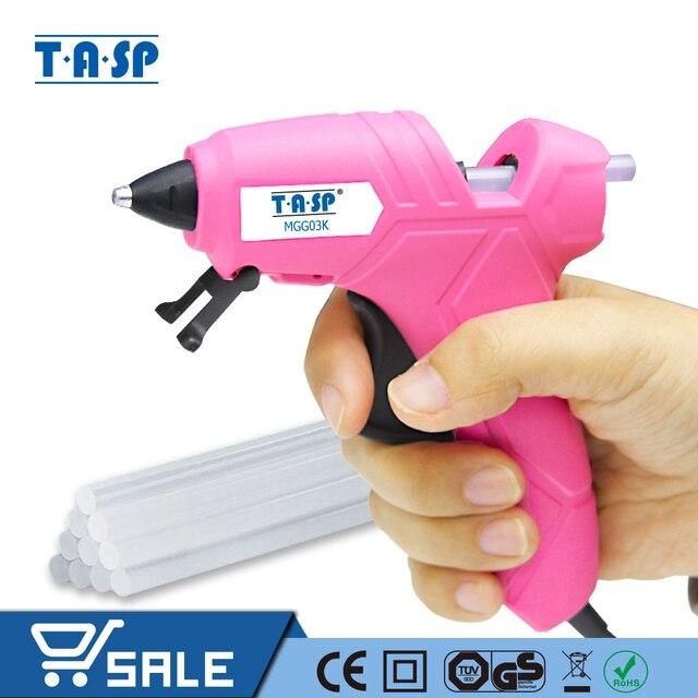 TASP 230V 12(70)W Hot Melt Kleber Pistole Hohe Temperatur Schmelzen Reparatur Tool Kit mit 10 stücke 7mm Kleber Sticks für Handwerk projekte