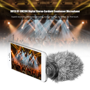 Image 2 - BOYA BY DM200 цифровой стерео кардиоидный конденсаторный микрофон, превосходный звук для iPhone, iPad, iPod, записи сенсорных устройств