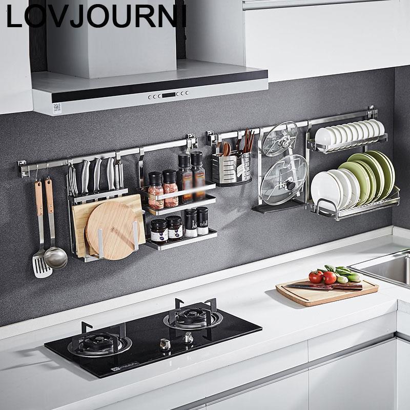 Especias Cosina Organizer And Kuchnia Dish Stainless Steel Cocina Organizador Cuisine Mutfak Kitchen Storage Rack Holder title=