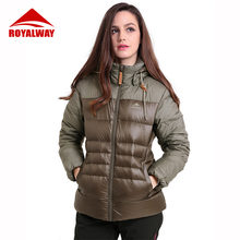 Женский зимний пуховик royalway теплая пуховая куртка модная