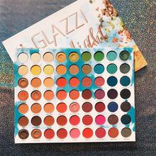 Icycheer maquiagem 63 cores paleta de sombra de arco íris brilho gltter fosco cremoso sombra de olho pigmentado maquillage paleta de sombra