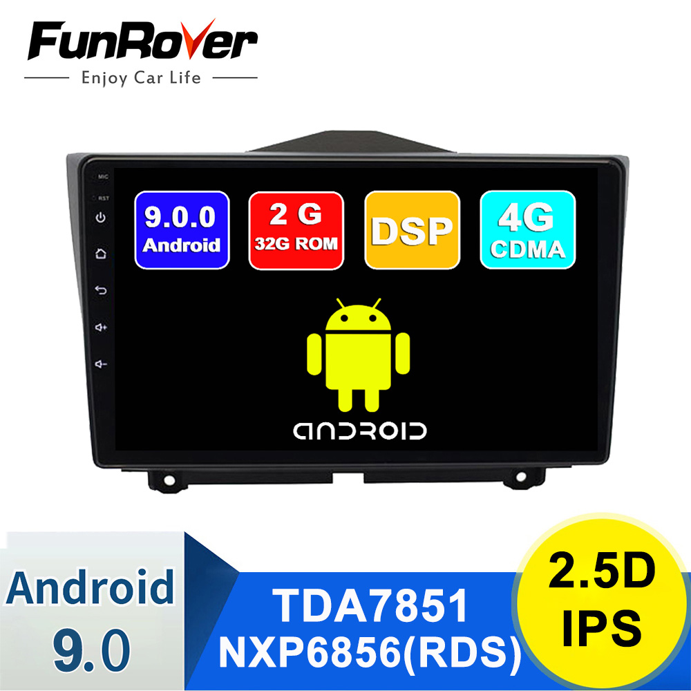 Funrover Android 9.0 LADA Granta 2018-2019 2din Car Radio Multimedia Player autoradio Navigation GPS 2.5D IPS dvd dsp rds 2+32G image
